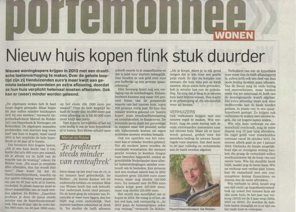 Hypotheekadviseur Pensioenadviseur Financieel adviseur Rotterdam Vermogensadvies